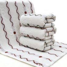 35x75cm 100% cotton face towel Soft Elegant Cotton Terry towels(China)