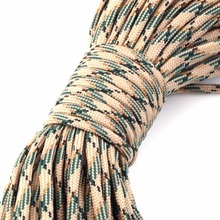 550 Popular Type III 7 Strand Parachute Paracord Cord Lanyard Mil Spec Core For hunting Paracord 550 100FT New Outdoor Tools(China)