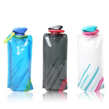 Buy Maphissus Outdoor Sport Compressible Water Bag Foldable 700mL Sport Water Bottle Bag Reusable Bicycle Camping Tools for $1.48 in AliExpress store