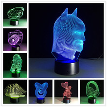 Touch 3D Lamp 3D Night Light USB Led Table Desk Lampara 7 Colors Changing LED Lamp Luminaria Action Figure Kids Gift Toy