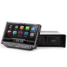 "AUTO RADIO 7"" 1 Din Car DVD Player Single DIN Radio Detachable Front Panel Flip down Touch Screen Audio RDS Bluetooth Video FM(China)"