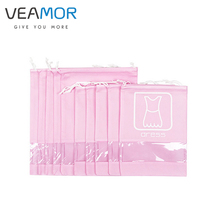 VEAMOR Non-woven Travel Bags Clothing Shoes Dress T-shirt Coat Finishing Bags with Transparent Window 10pcs/set WB1143(China)