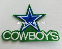Cowboys Star Logo Embroidered IRON ON/ SEW ON Cool Football Vest Patch Military Badge Wholesale