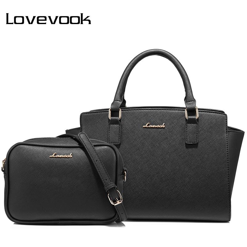LOVEVOOK handbags women shoulder crossbody bag female messenger bags ladies bags tote retro high quality PU small 2 psc/set <br>