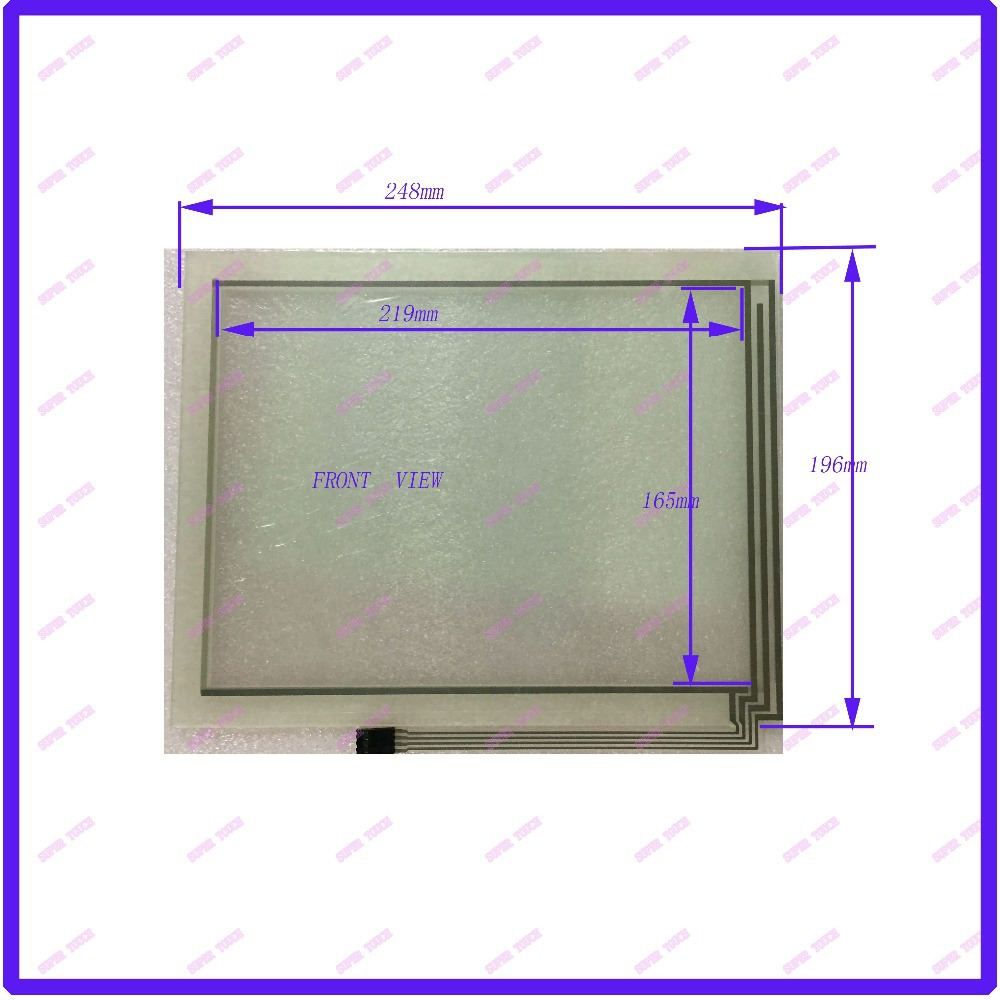 ZhiYuSun NEW   12.1 inch Touch Screen 4 wire resistive USB touch panel overlay kit   248*196<br>
