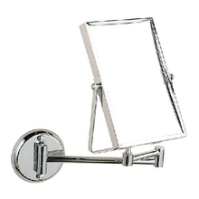 "Bath Mirrors 8"" Double Side Brass Shave Makeup Mirror Chrome Hotel Wall Mounted Extend With Arm Round Base 3x Magnifying 1758"