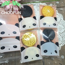 100pcs/lot Pink Panda Opp Self-adhesive Gift and Grocery Package Plastic Bags Event Party Cookie and Candy Packaging Bags BZ008(China)