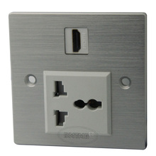 Aluminum HDMI AC power wall plate and support customer design(China)