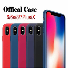 Buy LOGO Original Silicone Case iPhone 6 6S 7 8 Plus X Phone bag cover iPhone 8 case 7 Plus Back iPhone X Cases for $2.94 in AliExpress store