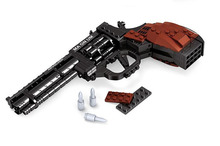 mylb 300pcs Building Blocks Assembled Military Series Super Large Pistol Revolver Compatible Legoe Educational Toys 22511