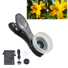 Mobile Phone Lens 15X Super Macro Camera Lens with Lens Hood and Cleaning Cloth for iPhone7 Samsung iPad Xiaomi Tiny Close-up