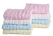 Sinland Muslin Cotton Baby Washcloths Baby Face Towel Extra Absorbent 4 Colors Pack of 8(China)