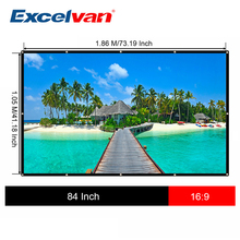 84 Inch 16:9 HD Projector Screen Portable Folded Front Projection Screen Fabric with Eyelets without Frame For UNic UC46 UC40(China)