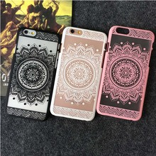 JiBan Retro pattern for iphone7 7plus case mobile phone shell market flower protective sleeve hard shell for iphone 6 6s plus(China)