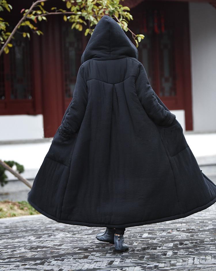 female winter hooded cape (6)