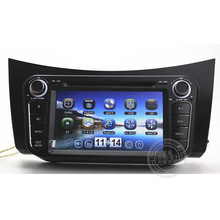 Hot sell Lifan smily 320 Car DVD GPS Player with GPS Navigation TV Bluetooth Radio Russian menu language,MAP gift