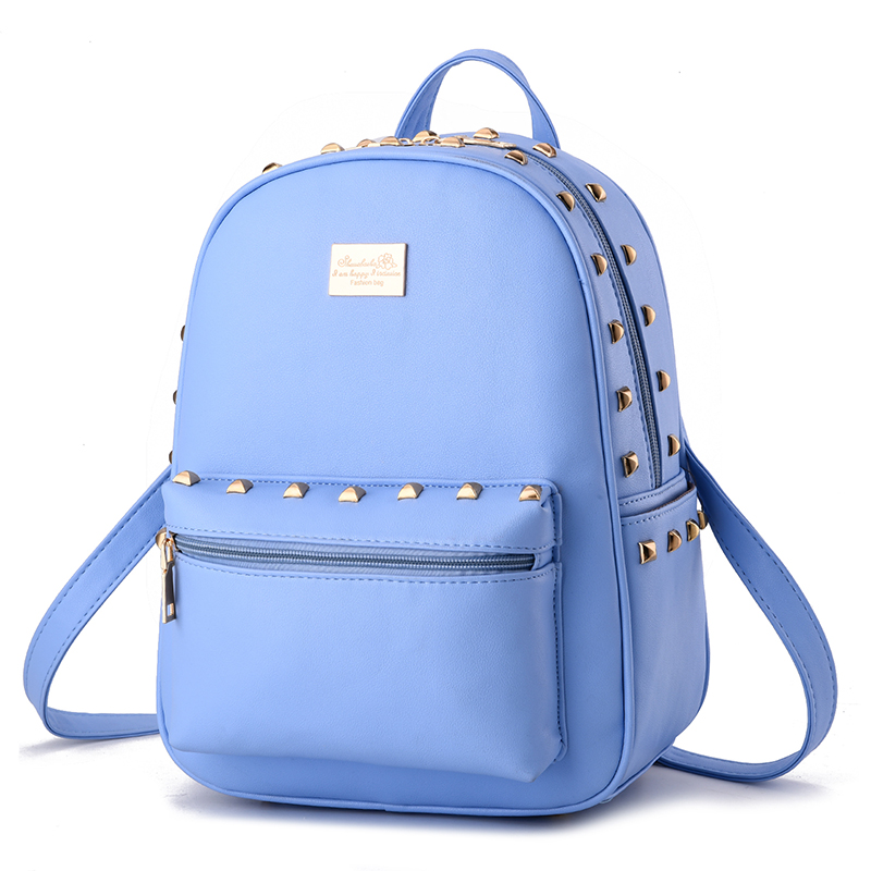 Korean style fashion women backpacks sweet lady rivet backpack preppy style student schoolbags KLY8890bag<br><br>Aliexpress
