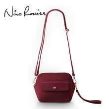 Nico Louise Women Shell Shoulder Bag Female Brand Small Leather Crossbody Messenger bags Clutch Purse For Girls Burgundy Handbag(China)