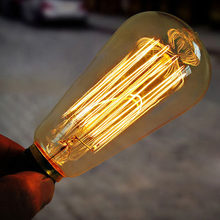 High Brightness Glass Long Life Service E27 40W/60w 220V/110V Filament Bulb Vintage Retro Antique Style Edison Lamp