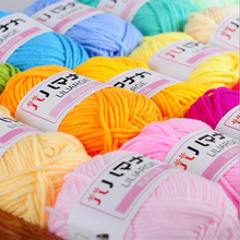 Wholesale! 250G/Lot High Quality Soft  Baby  Cotton Yarn  Scarf/Sweater  Yarn For Hand Knitting ,10Balls 42Colors