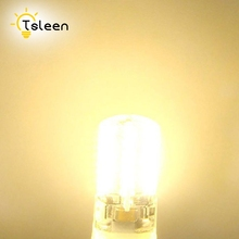 TSLEEN Led Energy Saving Lamp Dimmable E14 B15 LED Corn Light SMD3014 Super bright Replace Halogen Lamp Led Light Crystal Bulb(China)