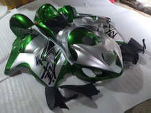 Injection mold Fairing kit for SUZUKI Hayabusa GSXR1300 96 99 07 GSXR 1300 1996 2007 ABS Green silver Fairings set+7gifts SD07