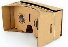 "by dhl or ems 100pcs DIY Google Cardboard Virtual Reality VR Mobile Phone 3D Viewing Glasses for 5.0"" Screen VR 3D Glasses(China)"
