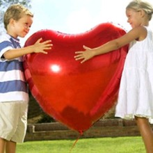 Party Supplies  Good quality  75cm Ultra Large Heart Balloon Aluminum Foil Balloon Wedding Marriage Decoration 100pcs