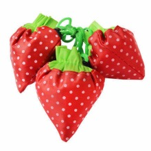 Hot Fashion Cute Strawberry foldable reusable shopping bag women Travel Grocery Bags Tote