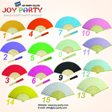 Free shipping 150pcs/lot 21cm solid color Paper hand fan wedding decoration party promotion gift favor(China)
