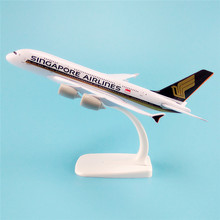 20cm Metal Alloy Plane Model Air Singapore Airlines Aircraft Airbus 380 A380 Airways Airplane Model w Stand