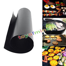 1PCS/PACK 40X33CM PROMOTION Non Stick BBQ Sheet Oven Liner Grill Foil Barbecue Film Reusable Teflon Cooking Sheet(China)