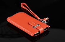 Hand Strap Genuine Leather Mobile Phone Cases Pouch For LG X power2,Stylus 3,Stylus 2 Plus,Stylo 2 LS775,G Vista 2,G Stylo (CDMA