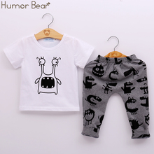 Buy Humor Bear New Style Summer Baby Clothing Sets Boy Cotton Cartoon Short Sleeve 2Pcs Baby Boy Clothes Set for $7.33 in AliExpress store
