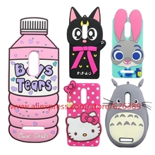 For Redmi Note 3 Case Silicone Pig Cat Hello Kitty Judy Boys Tears Ice Cream 3D Soft Phone Cases For Xiaomi Redmi Note 4(China)
