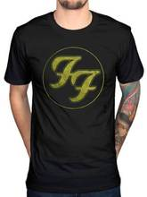 FF Foo Fighters t shirt  men  In Gold Circle Est 1995 Gift casual gift tee USA ize S-3xl
