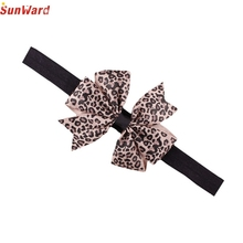 SunWard Newly Design Lovely Sweet Children's Elastic Force Hair Band Princess Baby Girl Round Dot Bowknot Leopard Hairband June9
