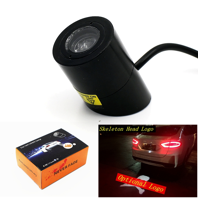 Many Patterns Select 1Pcs New Car Warning Laser Tail Logo Rear Fog Light Styling Auto Brake Parking Lamp Rearing License Lamp<br><br>Aliexpress