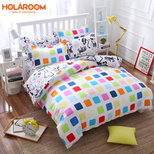 24 Colors Cartoon Bedding set European Style bed linens for Home Hotel Duvet Cover Flat Sheet Pillow Case for Living room 4 pcs