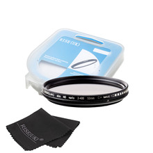 freeshipping RISE(UK) 52mm ND Fader Neutral Density Adjustable Variable Filter ND2 to ND 400 Filter+gift