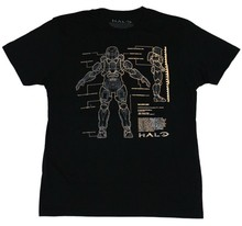 Halo Mens T-Shirt - Foil Printed Master Chief Suit Schematics Image(China)