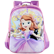 New Fashion Sofia the First Princess Sofia Purple Backpack School Bags for Girls Kids Primary School Children Bag