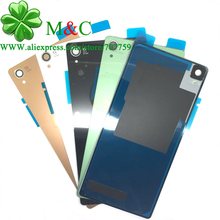 10pcs New Z3 L55T Battery Back Cover Housing For Sony Xperia Z3 L55T D6603 D6643 D6653 Battery Back Door With Waterproof Sticker