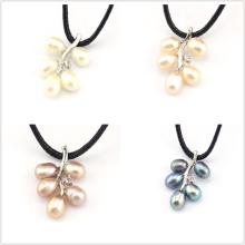 FREE SHIPPING !!! Valentine's Day Gift 100% Genuine White Pink Purple Black Natural Freshwater Pearl Branch Pendants