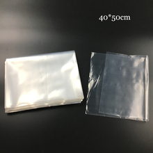 40x50cm 7dmm Flat Pocket Storage Bags PE High Pressure Bag LDPE Waterproof Package Transparent Plastic Bag Kitchen Fresh Bags(China)