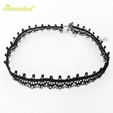 Gussy Life wholesale Vintage Black Lace Sunflower Tattoo Gothic Necklace Choker Feb10(China)