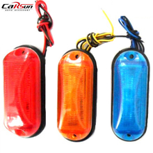 12V 24V Car LED Light Multicolor Side Marker Light Clearance Lamp E-marked DOT Car Truck Trailer 2FU Rear Lights Parking