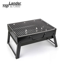 BBQ Grill Fold Charcoal Barbecue Grill Set Oven Roast Stove Mini Portable Outdoor Camping Grill(China)