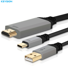 KEYSION 3.1 USB C to HDMI Cable Type-C to HDMI Converter 4K 30Hz HD External Video Graphics Extend Adapter for Macbook HDTV(China)