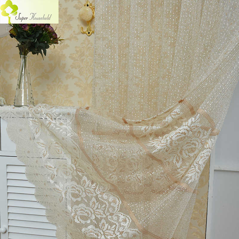 Cortinas Dormitorio Sale New Curtains Luxury Lace Hollow Tulle Fabrics For Bedroom Window For The Drapes/panels Screening